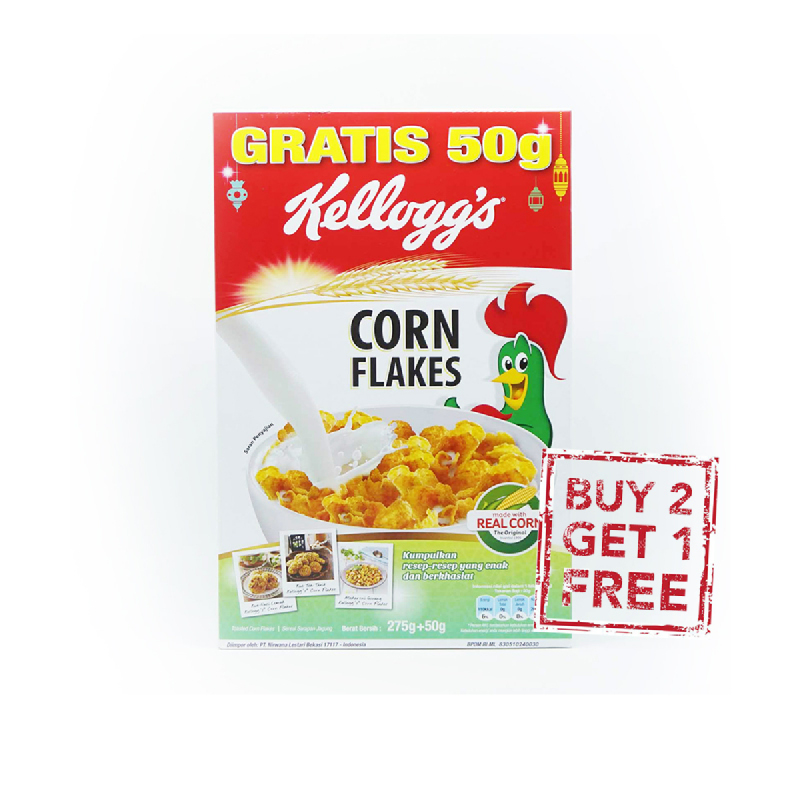 Kellogs Corn Flakes 275 Gr (Buy 2 Get 1)