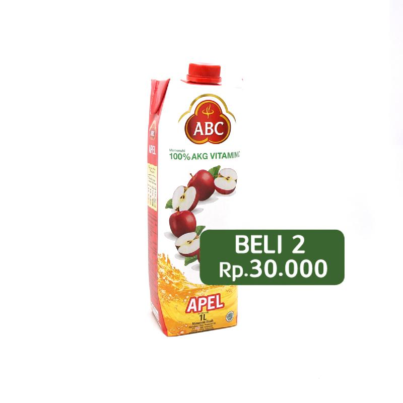 Abc Apple Juice 1L (Beli 2 Rp.30.000)