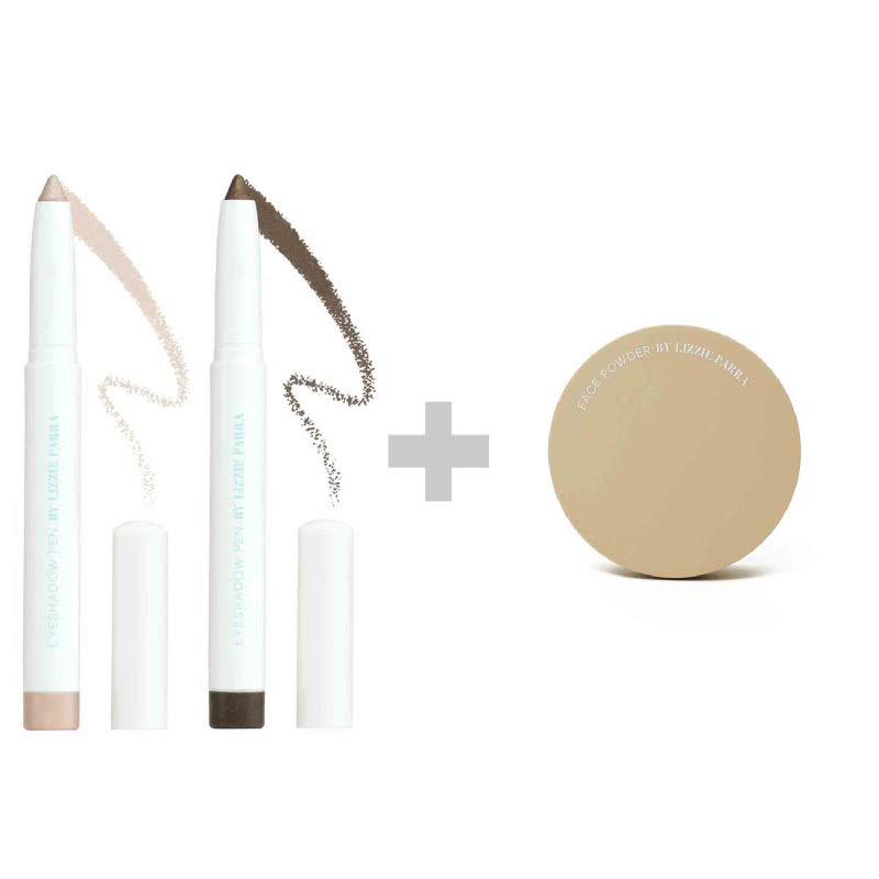 BLP Eyeshadow Harvest Gold+Copper Brown & Face Powder Medium Beige