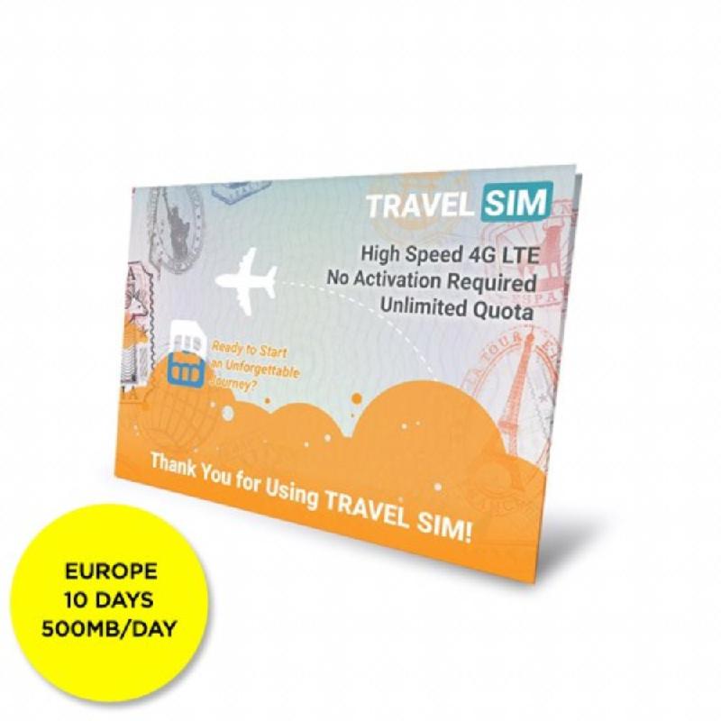 Travel SIM Europe 10 days