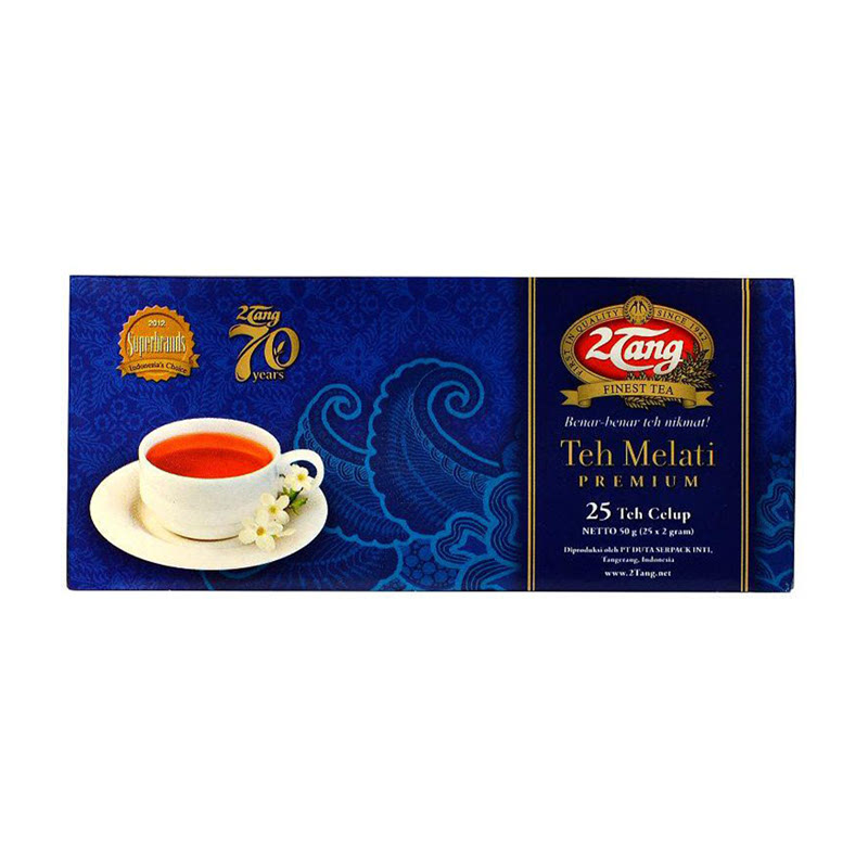 2 Tang Teh Celup Melati Premium Isi 25 Pcs