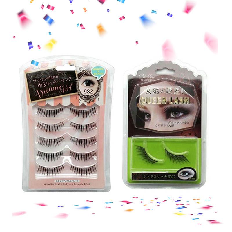 Lucky FLE 982 False Eyelash (5 pairs) + Lucky MBR 686 Black Eyelash