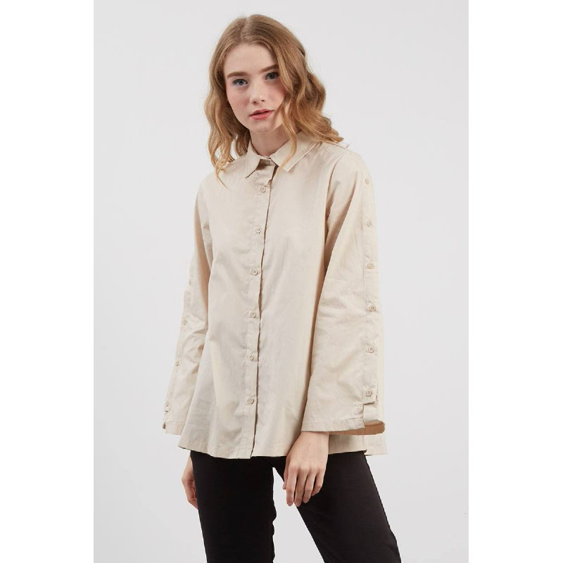 Shelby Button Shirt Creme