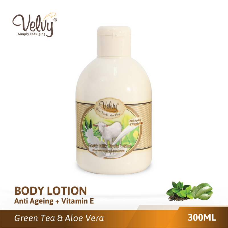 Velvy Gm Body Lotion Green Tea & Aloe Vera 300Ml