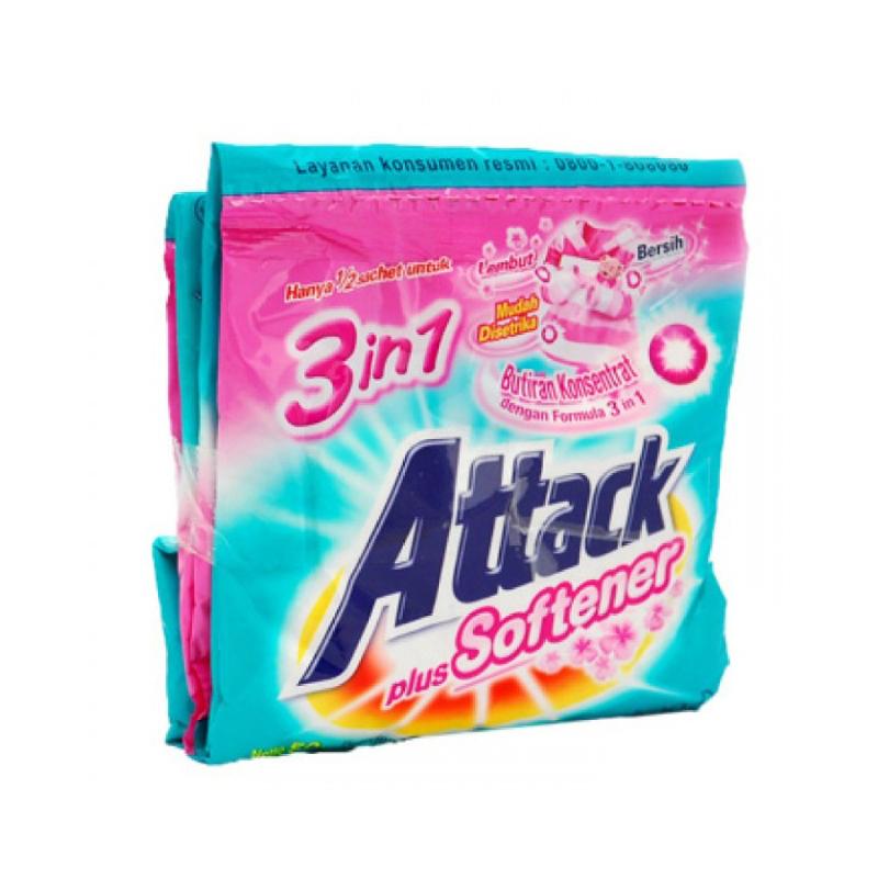 Attack Plus Softener Powder Detergent 40 gr x 6 pcs