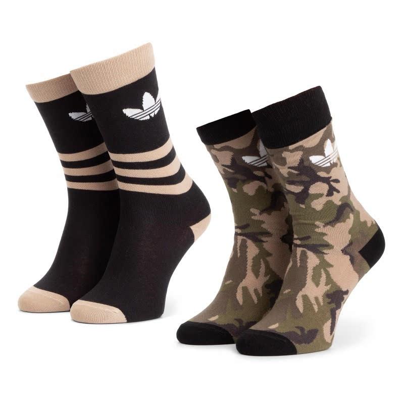 Adidas 2Pk Camouflage Crew Socks DV1501