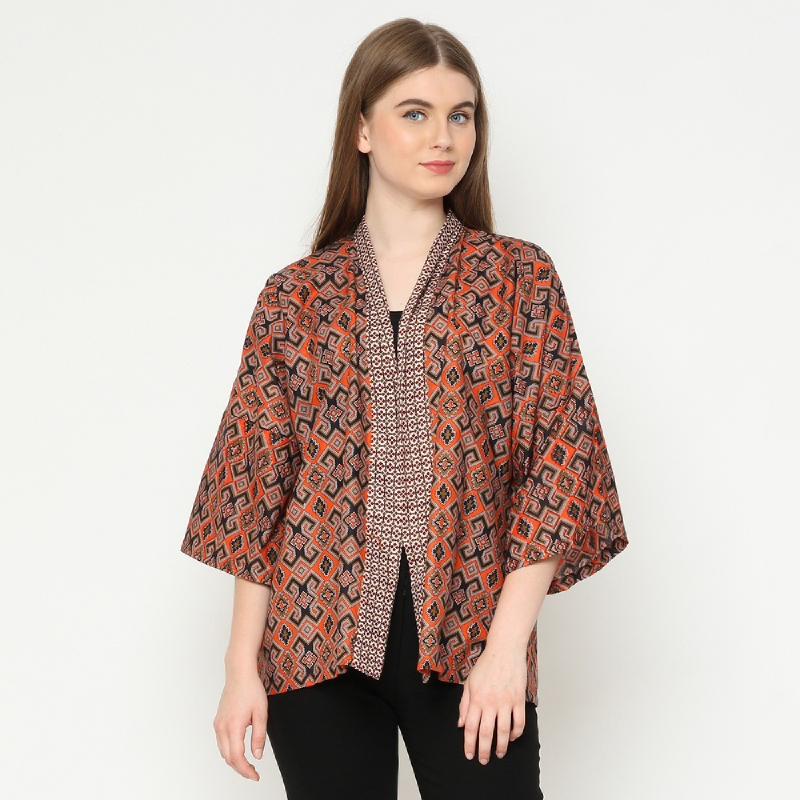 Winggo Lestia Kimono Batik Outer Orange