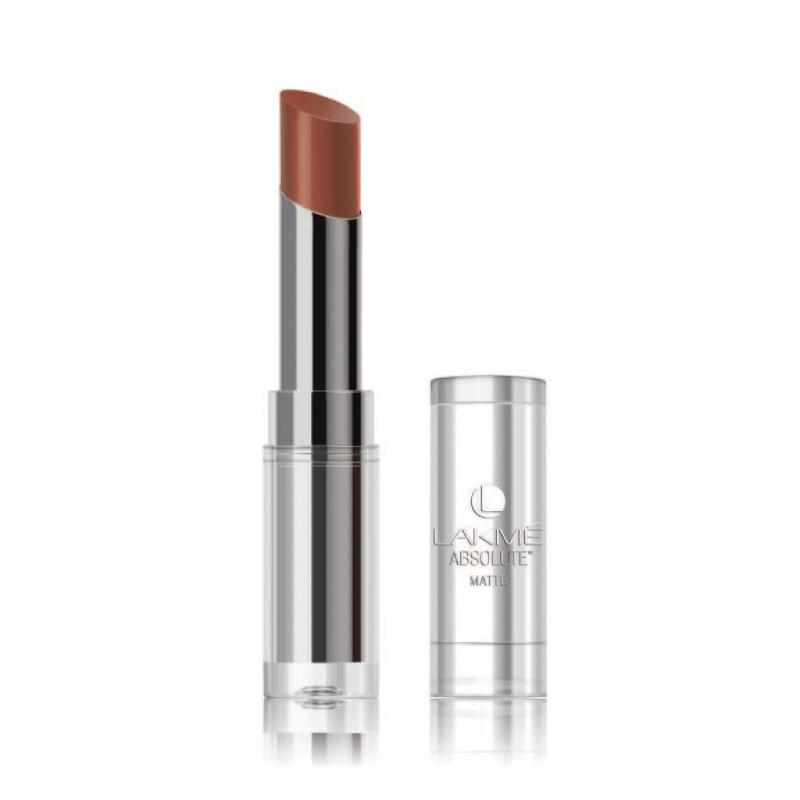 Lakme Absolute Reinvent Sculpt New Hi-Definition Matte Lipstick Deep Caramel