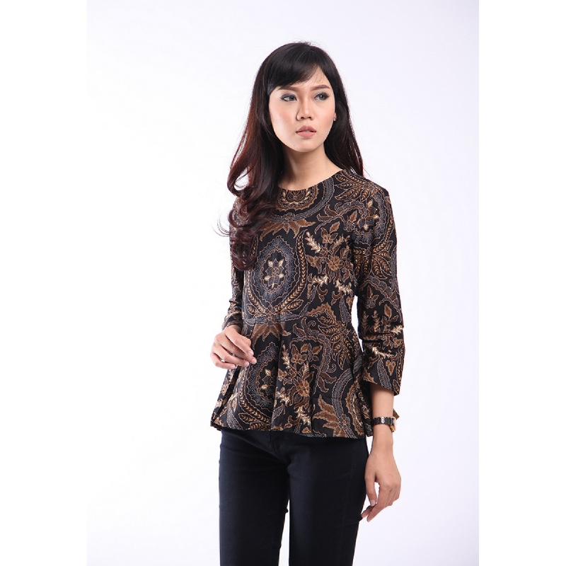 Adinata Batik Jovanka Blouse Brown