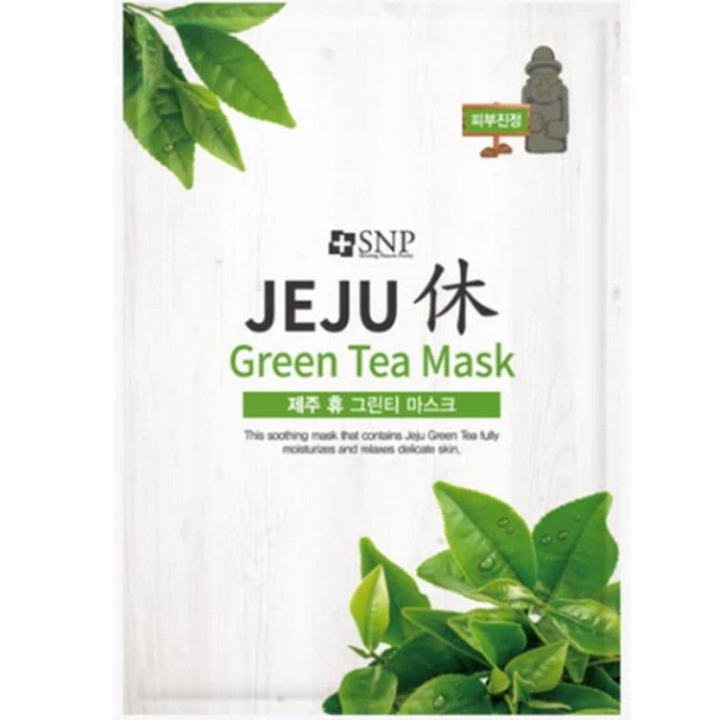 SNP Jeju Rest Green Tea Mask 25ml