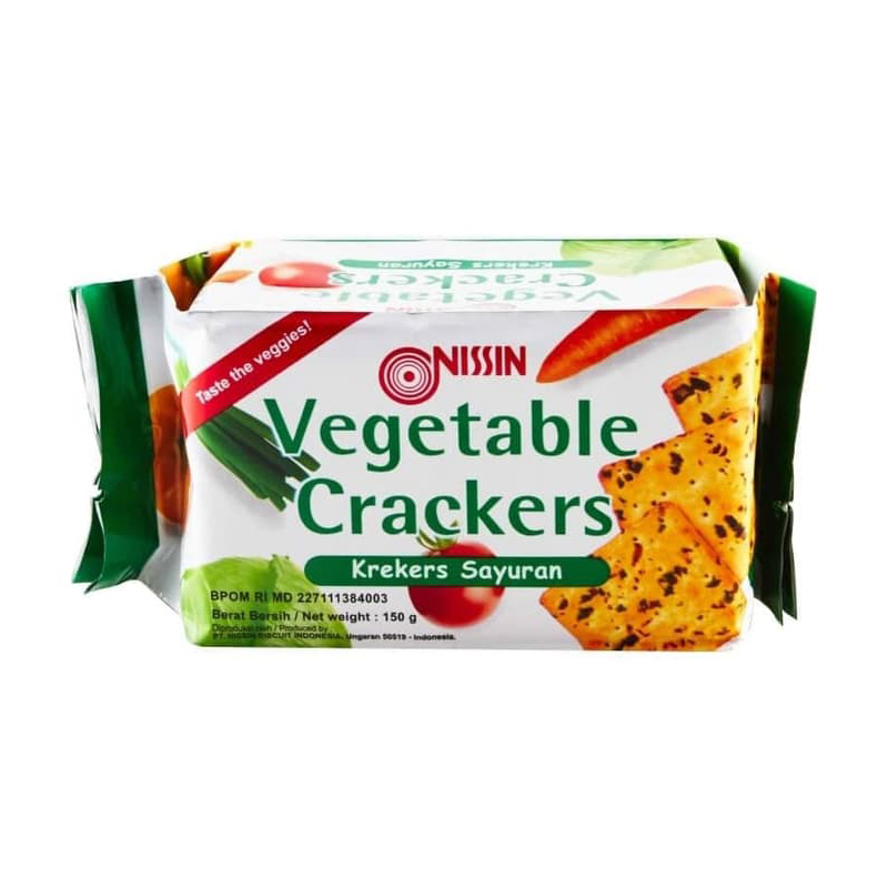Nissin Vegetable Crackers 150 gr