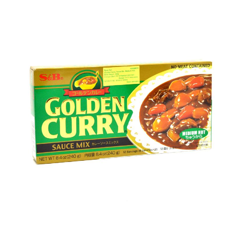 S & B G. Curry. Sauce Mix Medium-Hot 240 Gram