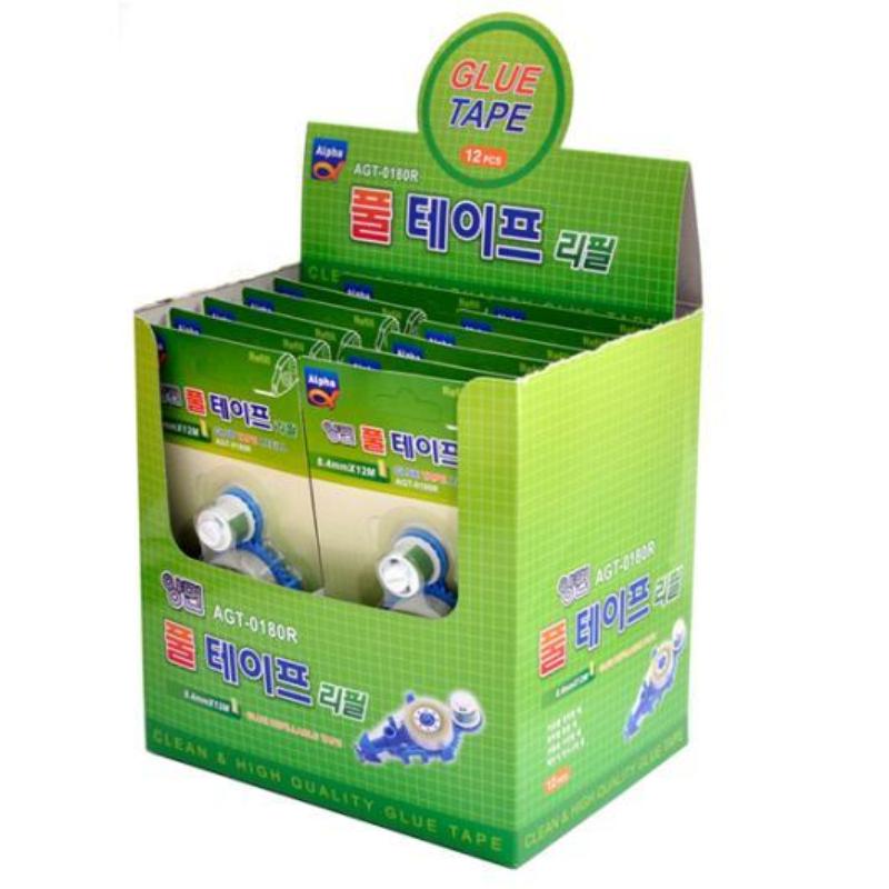 Alpha Glue Tape Refill Agt-0180R 8.4Mm X 12M (12 Pcs)
