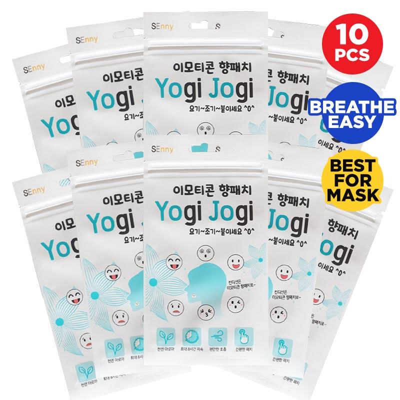 Yogi Jogi Emoticon Scented Patch (10 pcs) - Aromatherapy Stiker For Mask