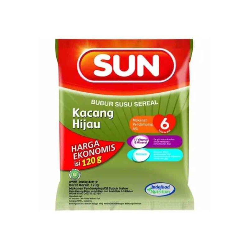 Sun Bubur Susu Rasa Kacang Hijau Kemasan Ekonomis 120 Gr