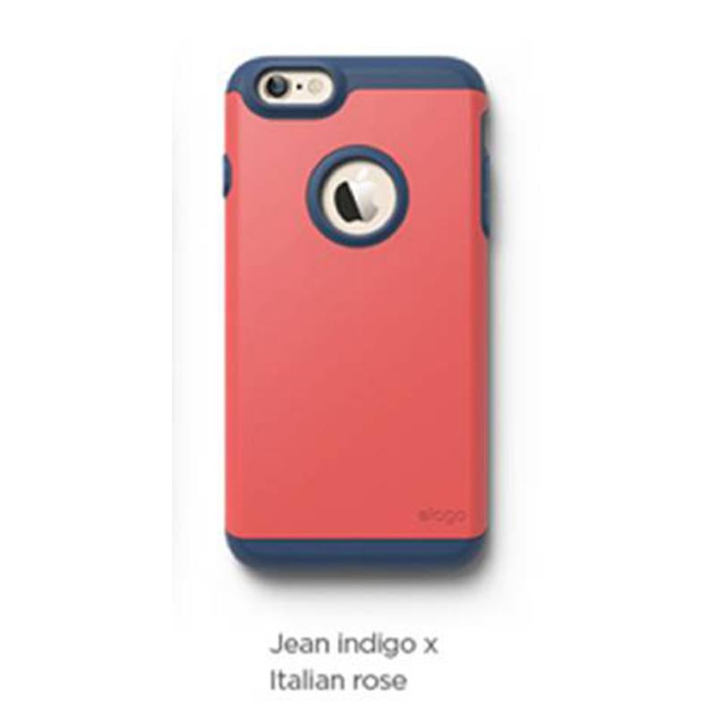 Elago Duro Jean Indigo Case for iPhone 6 Plus, 6S Plus - Jean Indigo + Italian Rose (Matte)