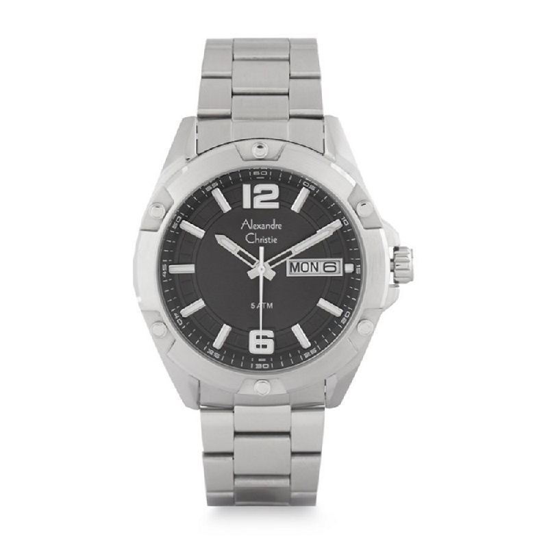 Alexandre Christie AC 6518 MEBSSBA Classic Jam Tangan Pria Silver Black