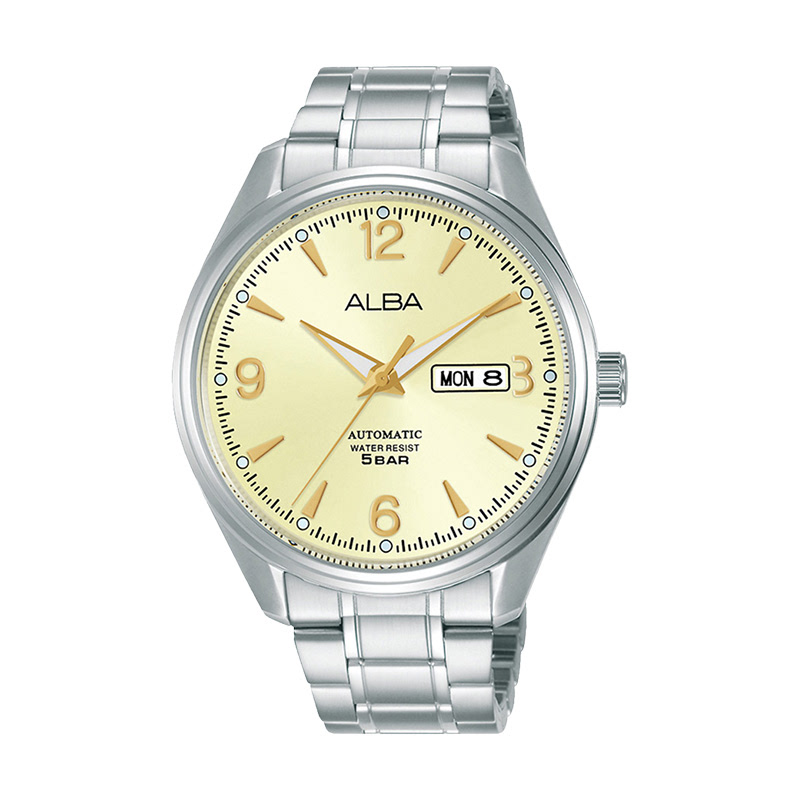 Alba AL4155X1 Champagne Dial Stainless Steel Strap