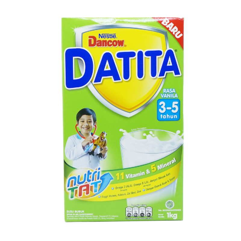 Dancow Susu Bubuk Datita 3-5 Vanila Box 1000Gr