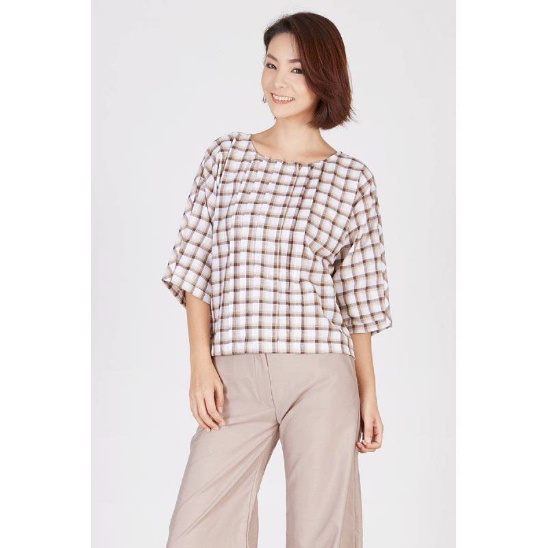Patsy Batwing Blouse Brown