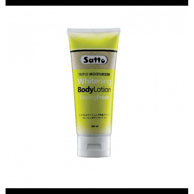Satto Triple Moisturizer Whitening Body Lotion Feeling Fresh