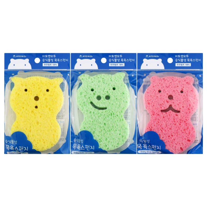 ATO N O2 Natural Bath Sponge 3 Colors
