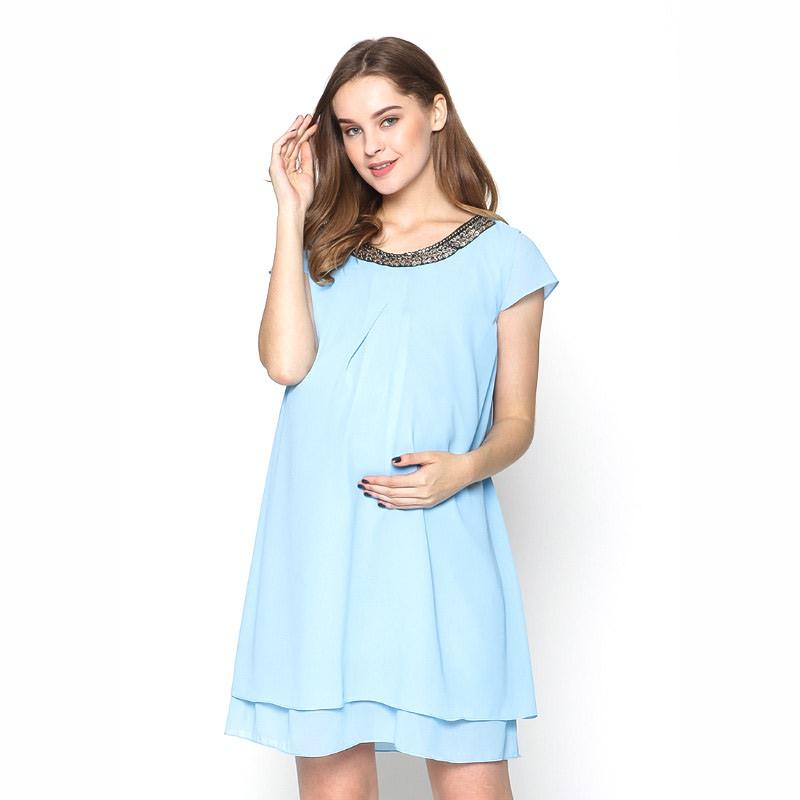 Yola Maternity Dress 51002 - Blue