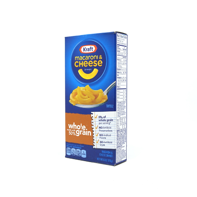 Kraft Macaroni&Cheese Whole Grain 6Oz