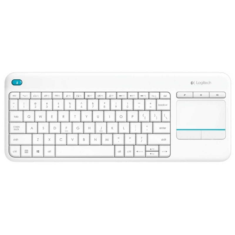 Logitech K400 Plus Wireless Touch Keyboard - Putih - AP
