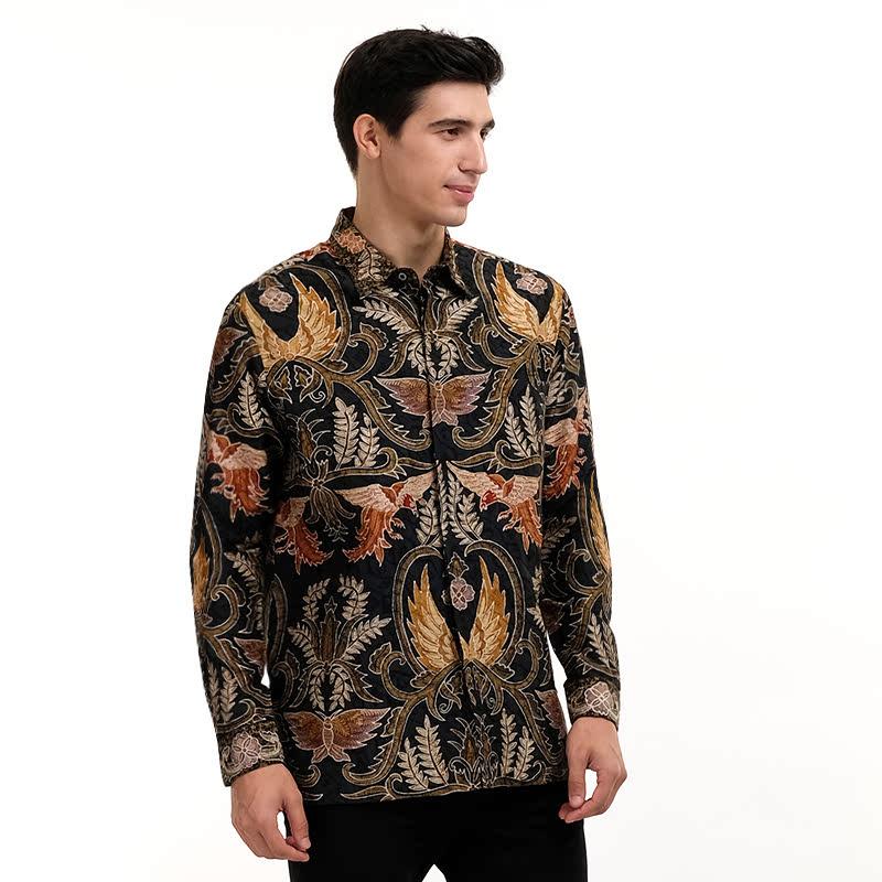 Batik Semar Full Fr Atbm Tl Brn Klasik Shirt Army