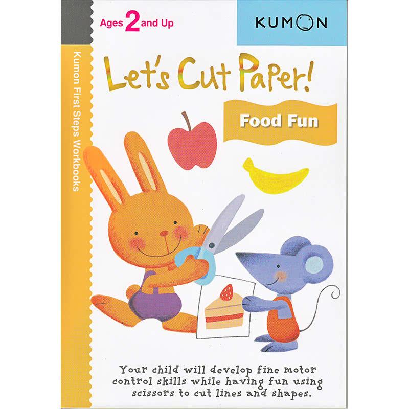 Kumon Let's Cut Paper! Food Fun