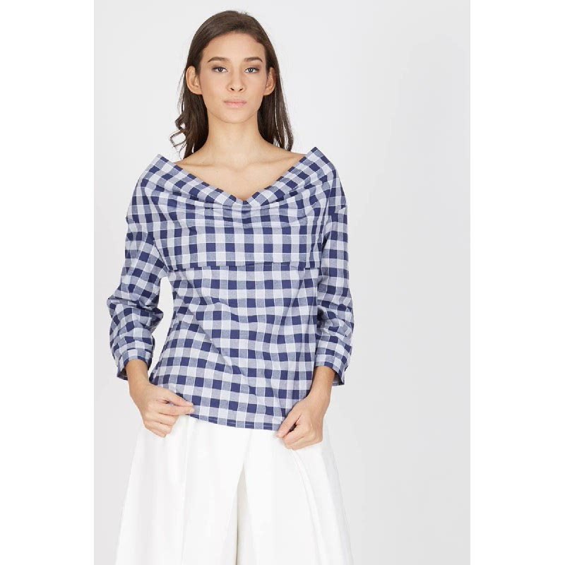 Fallyn Navy Blouse