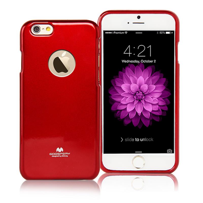 Goospery Jelly Case for iPhone 6 Plus -Merah
