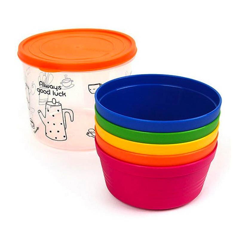 Lock & Lock HPP512S5 Rainbow Soup Bowl Set Standard