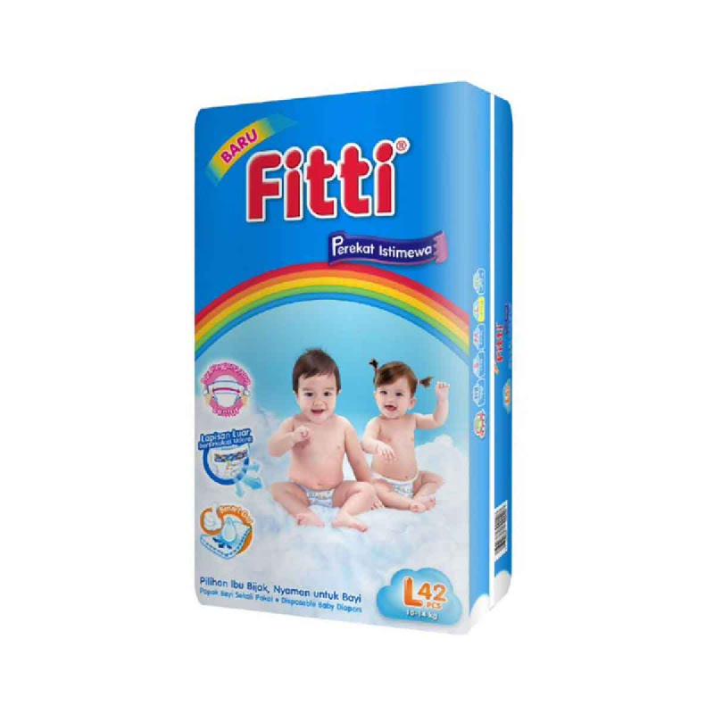 Fitti Popok Bayi Basic Jumbo Pack L 42 Pcs