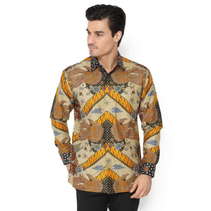 Agrapana Bhamana Regular Fit Kemeja Batik Print Lengan Panjang