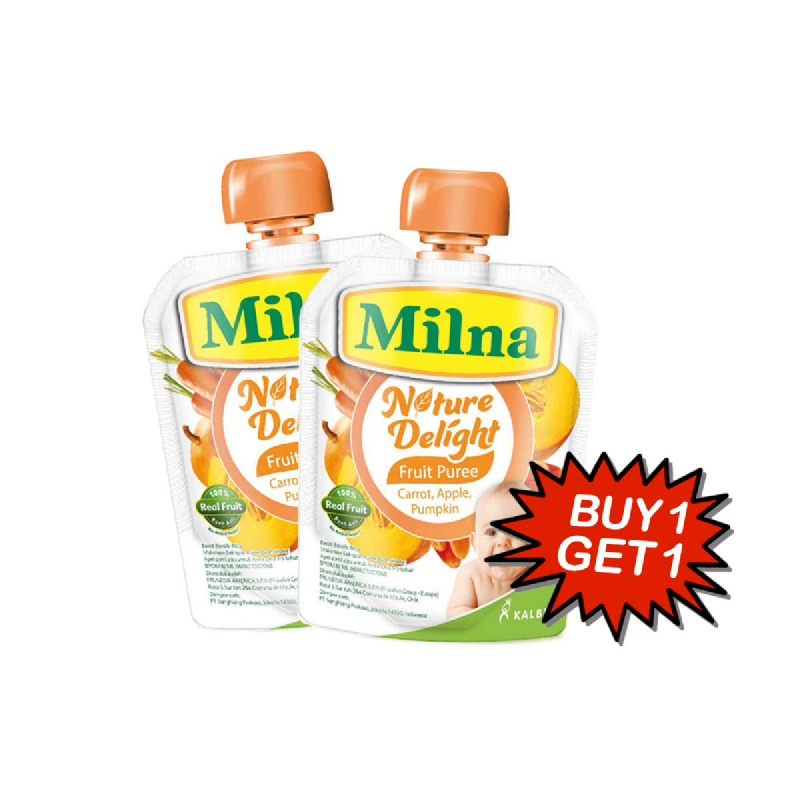 Milna Nature Delight Carrot 80 Gr (Buy 1 Get 1)