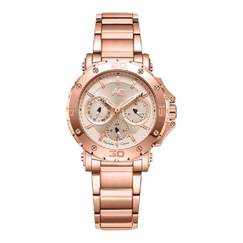 Alexandre Christie AC 9205 BFBRGLN Ladies Rose Gold Dial Rose Gold Stainless Steel Strap