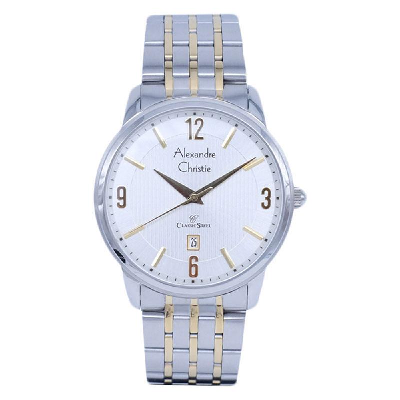 Alexandre Christie AC 8327 MD BTGSL White Dial Stainless Steel Bracelet