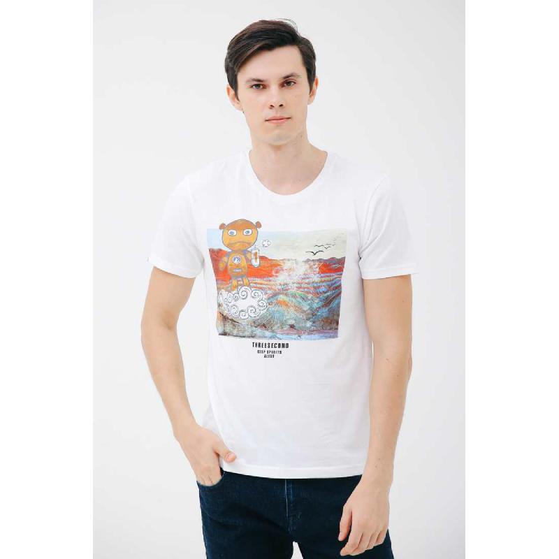 3Second Men Tshirt T0201.White