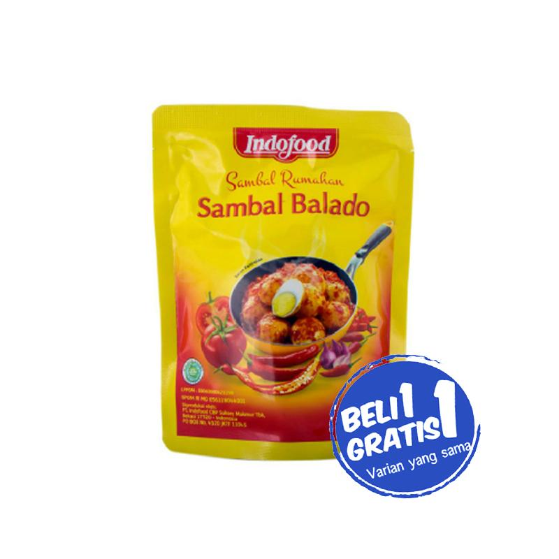 Indofood Sambal Balado Merah 200 Gr (Buy 1 Get 1)