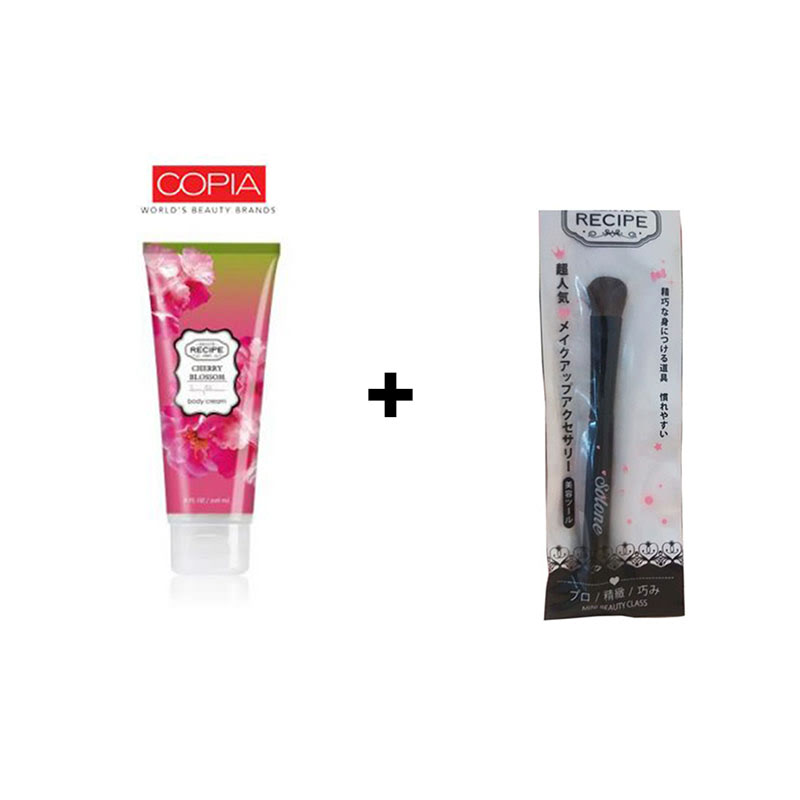 Beaute Recipe Big Brush + Beaute Recipe Cherry Blossom Body Cream