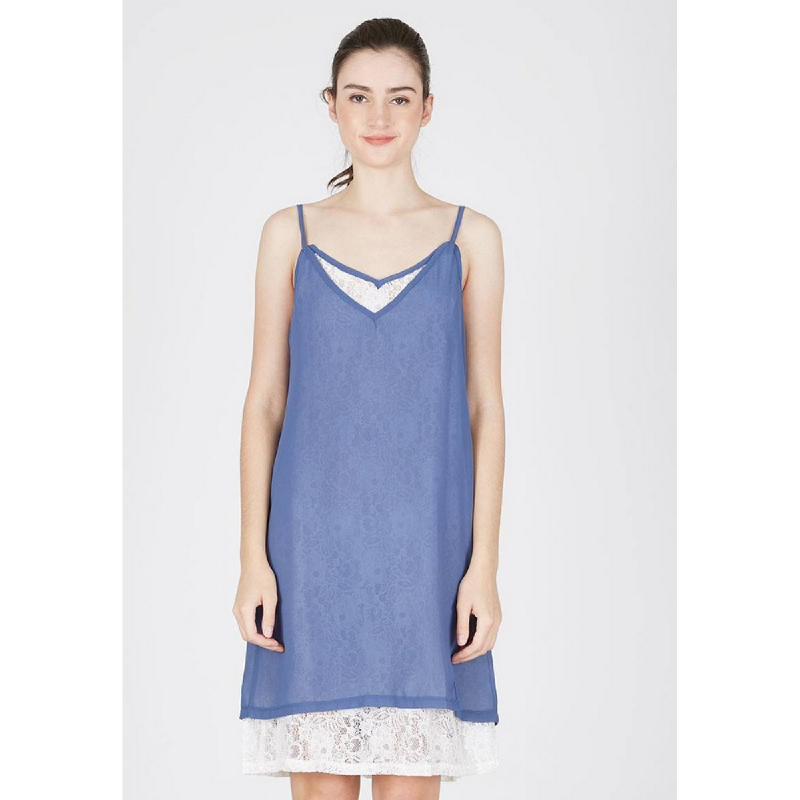 Lovadova Stone Camisole Lace Dress Blue