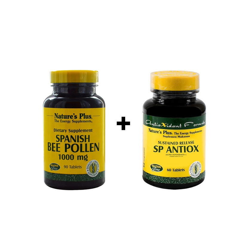 Bee Pollen 1000mg - 90 Tablets + SP Antiox - 60 Tablets