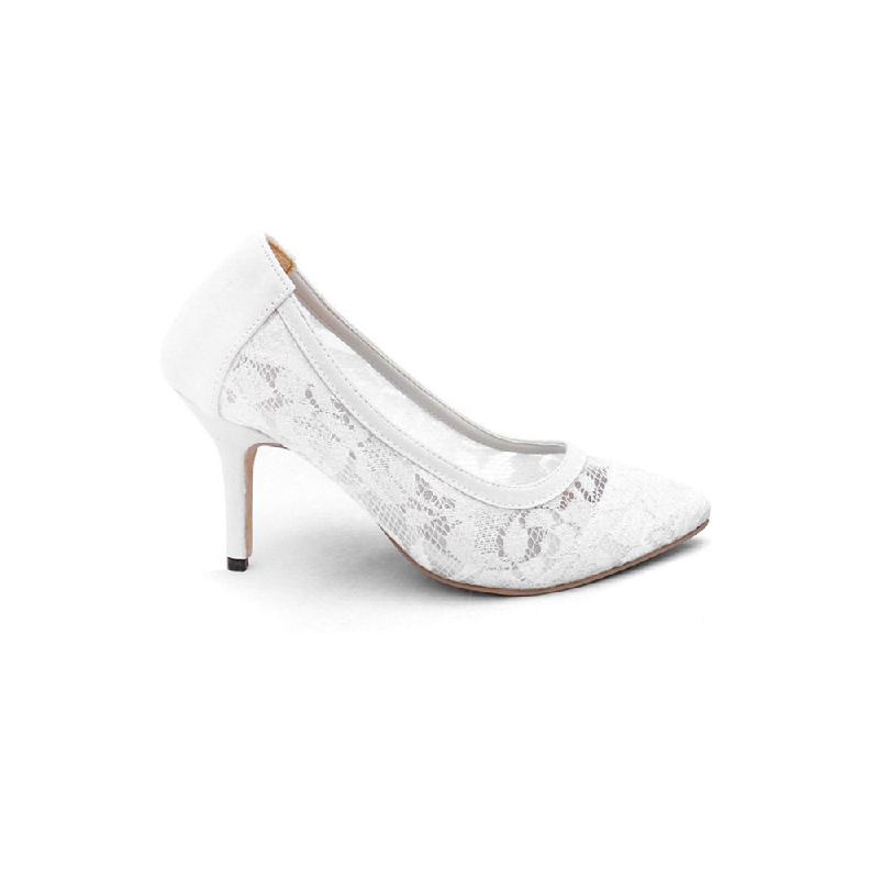 AliveLoveArts Lucy Heels White