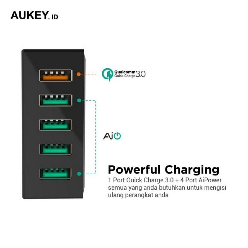 Aukey Charger 5 Ports 54W QC 3.0 & AiQ - 500077