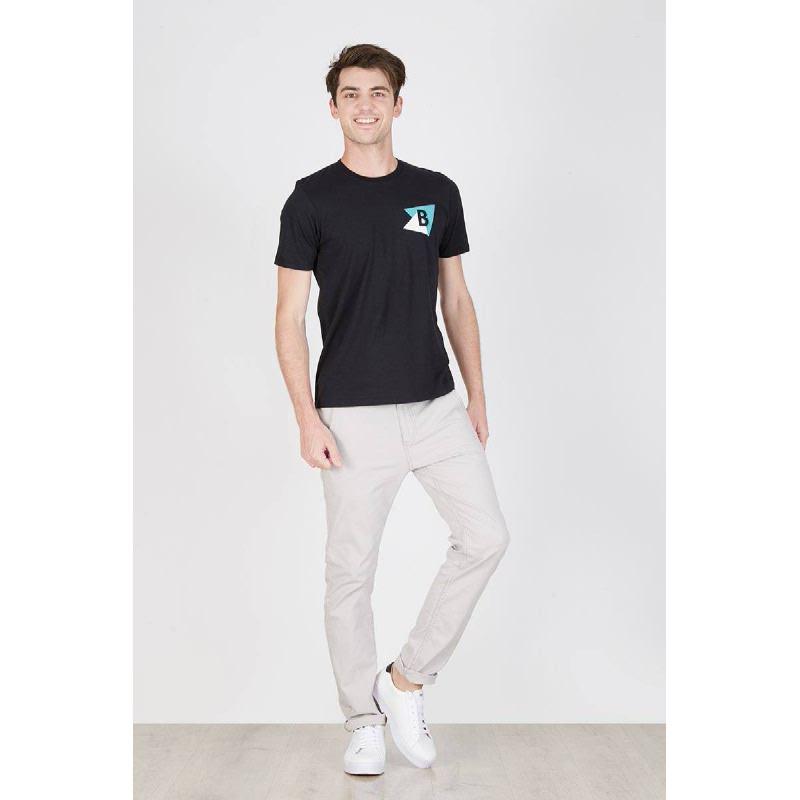 Men Triangle B Tshirt Black