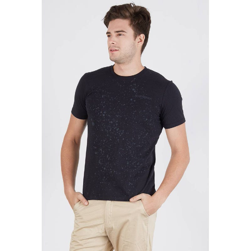 Men Berrybenka Splatter Tshirt Black