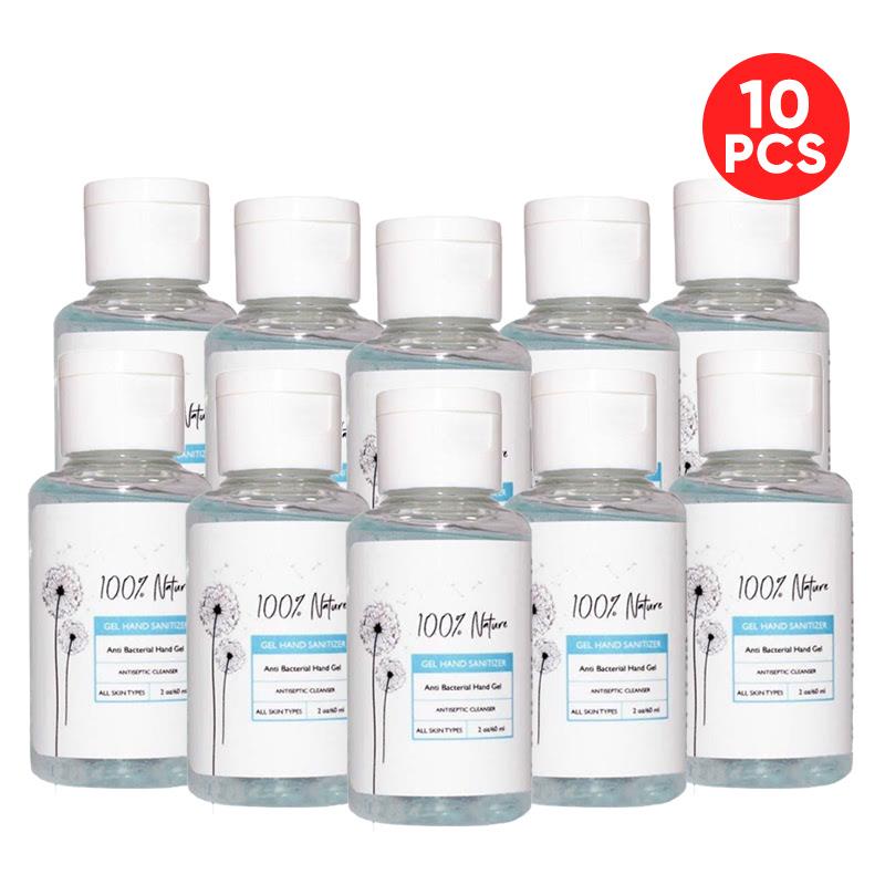 100% Nature Gel Hand Sanitizer 60ml (10pcs)