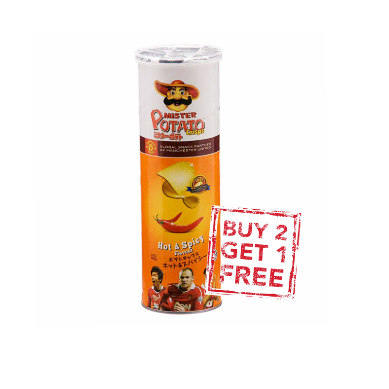 Mister Potato Chips Hot&Spicy 100G (Buy 2 Get 1)